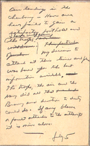 Unrevealed note of Dwight D. Eisenhower for troops.